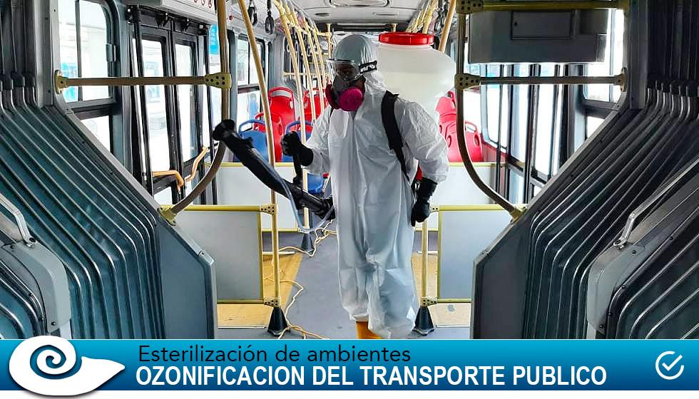 Esterilización de ambientes en el transporte Público Por Ozonificación